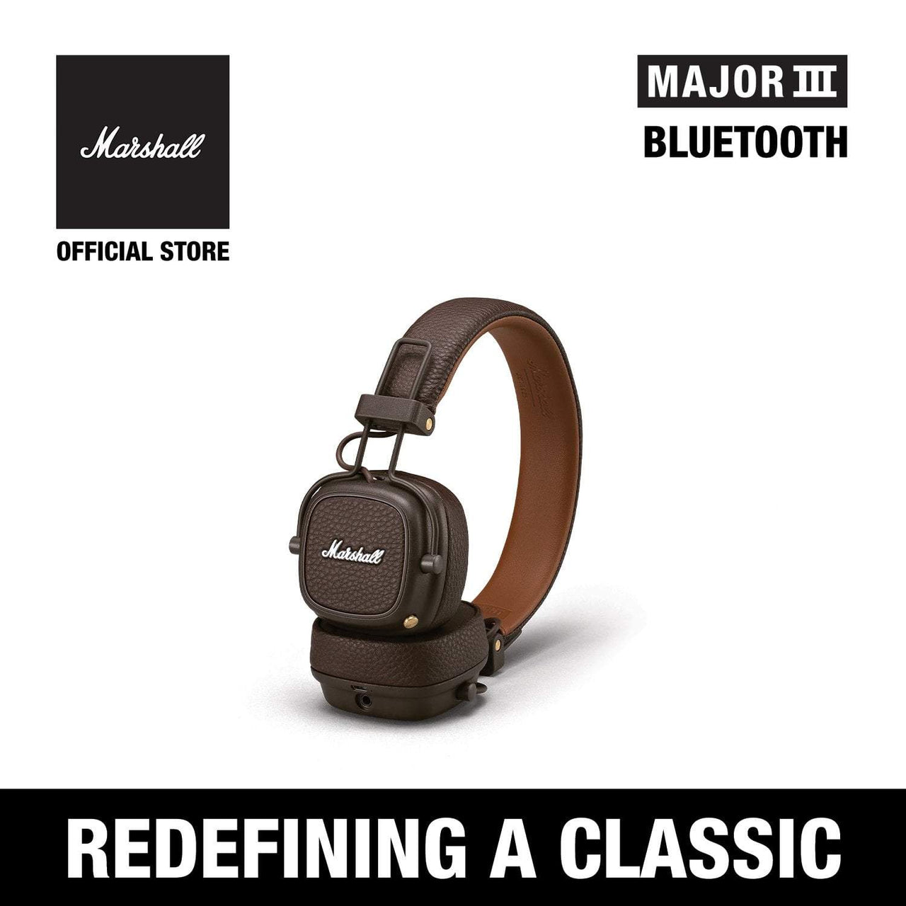 Major III Bluetooth Brown [Exclusive Partner], Headphones, Marshall Headphones, ASH Asia