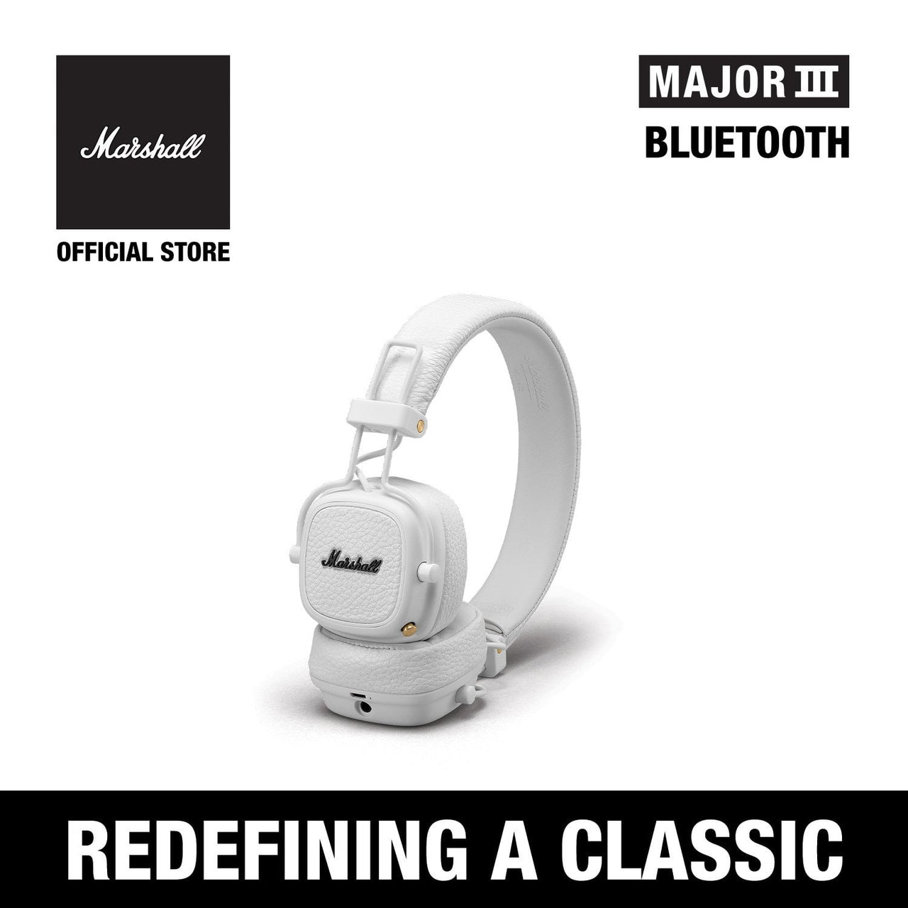 Major III Bluetooth White [EVENT EXCLUSIVE], Headphones, Marshall Headphones, ASH Asia