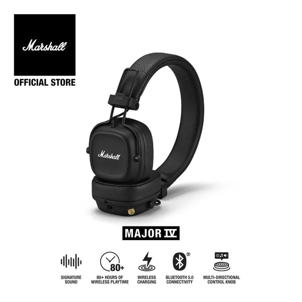 Marshall Major IV Bluetooth Black