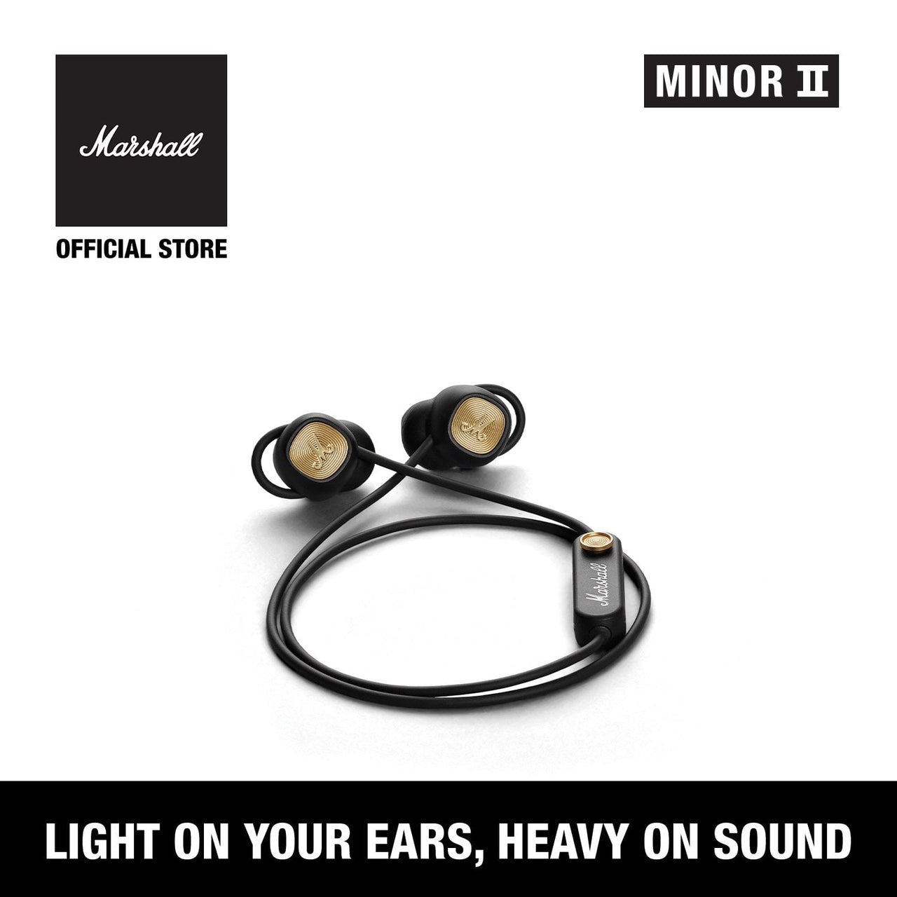 Minor II Bluetooth Black [EVENT EXCLUSIVE], Headphones, Marshall Headphones, ASH Asia