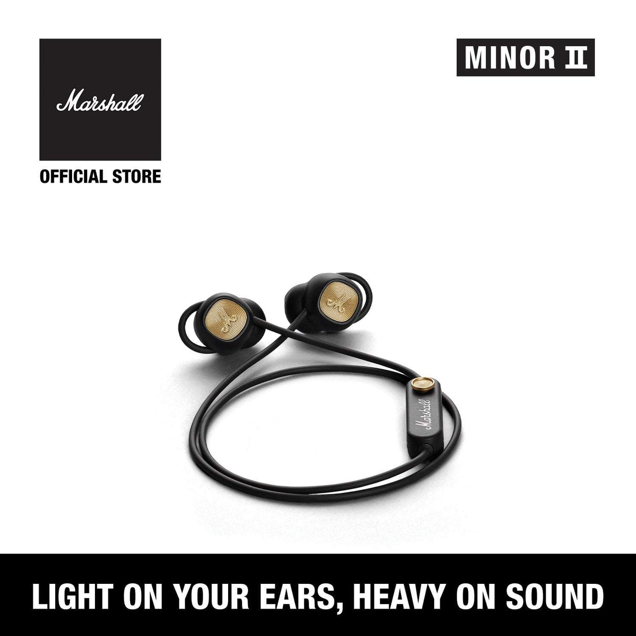 Minor II Bluetooth Black [Exclusive Partner], Headphones, Marshall Headphones, ASH Asia