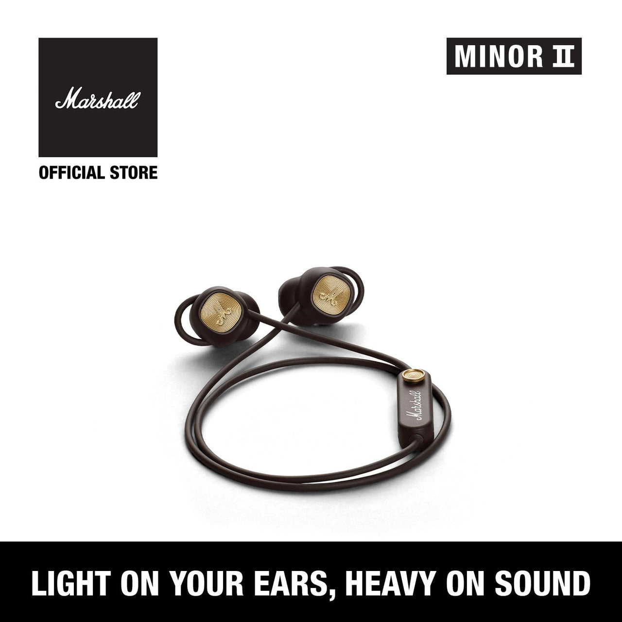 Minor II Bluetooth Brown [EVENT EXCLUSIVE], Headphones, Marshall Headphones, ASH Asia