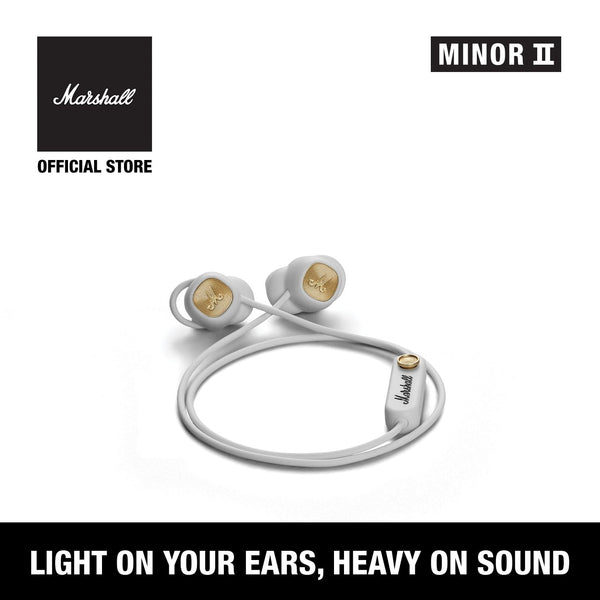 Minor II Bluetooth White [EVENT EXCLUSIVE], Headphones, Marshall Headphones, ASH Asia