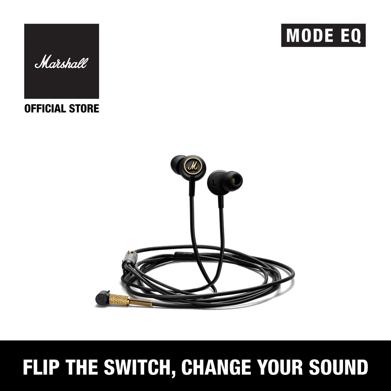 Mode EQ Black & Gold [EVENT EXCLUSIVE], Headphones, Marshall Headphones, ASH Asia