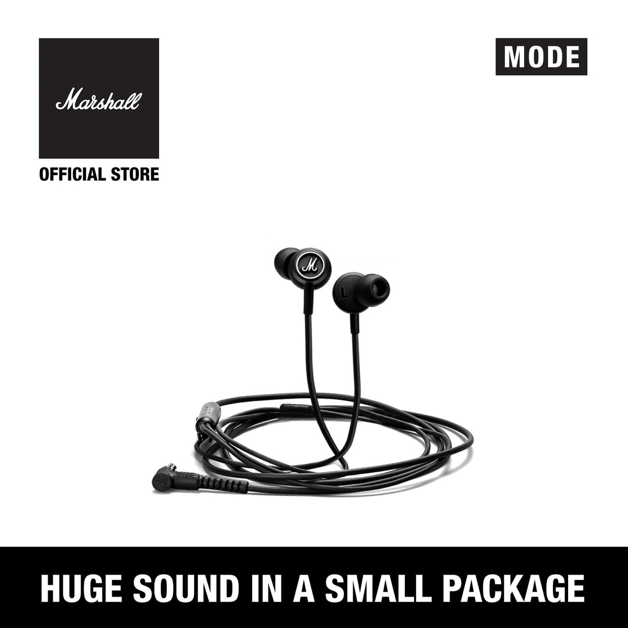 Mode Black & White [EVENT EXCLUSIVE], Headphones, Marshall Headphones, ASH Asia