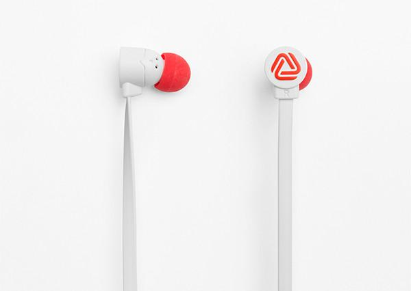 POP - BLOCKS WHITE/RED, Headphones, Coloud, ASH Asia