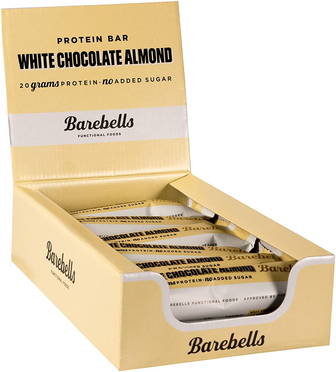 Barebells Protein Bar 55g x 12 bars (White Chocolate Almond), Protein Bar, Barebells, ASH Asia