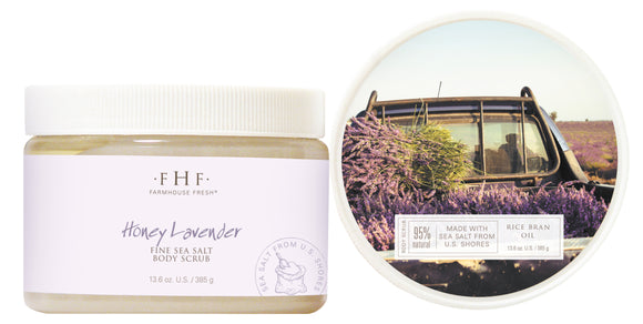 FarmHouse Fresh Honey Lavender Fine Sea Salt Body Scrub