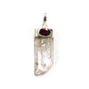Danburite Pendant with Garnet