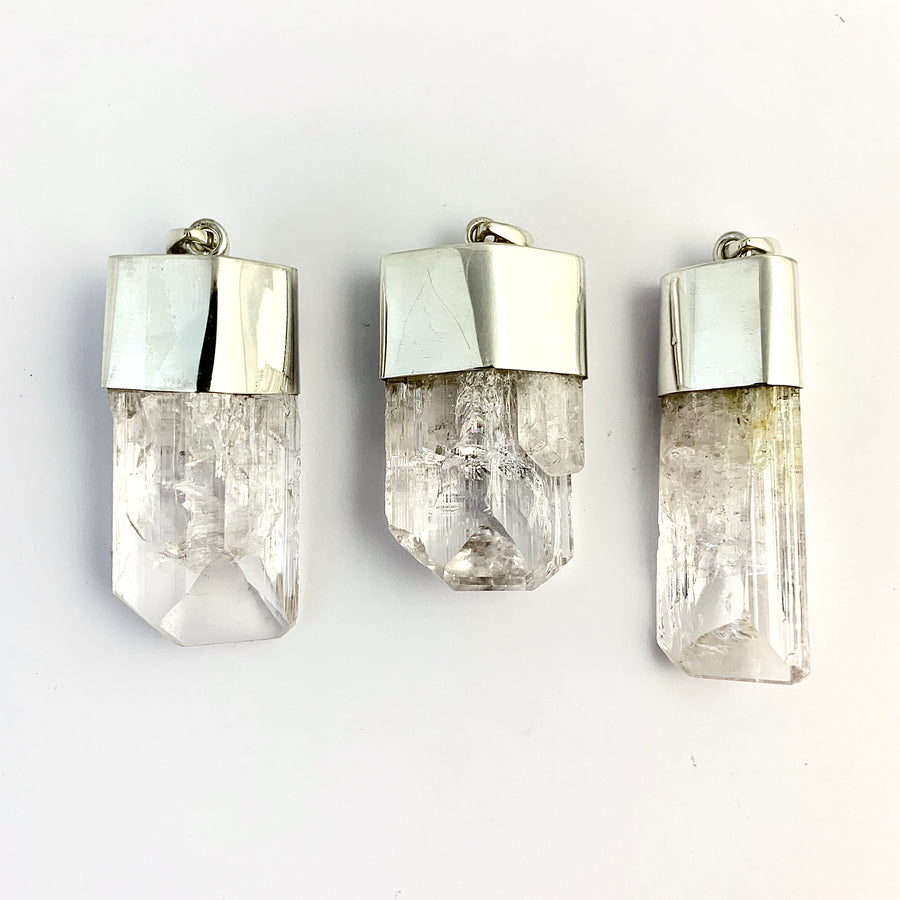 Danburite with Silver Cap