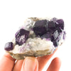 Purple Fluorite Cluster on matrix