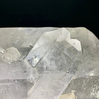 Double Terminated Clear Quartz Point with Twin