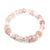 Rose Quartz & Clear Quartz Bracelet