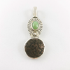 Turquoise & Ancient Coin Sterling Silver Pendant 2