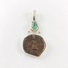 Turquoise & Ancient Shiva Nandi Coin Sterling Silver Pendant 2