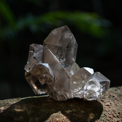 Smokey Quartz Cluster with Special Features