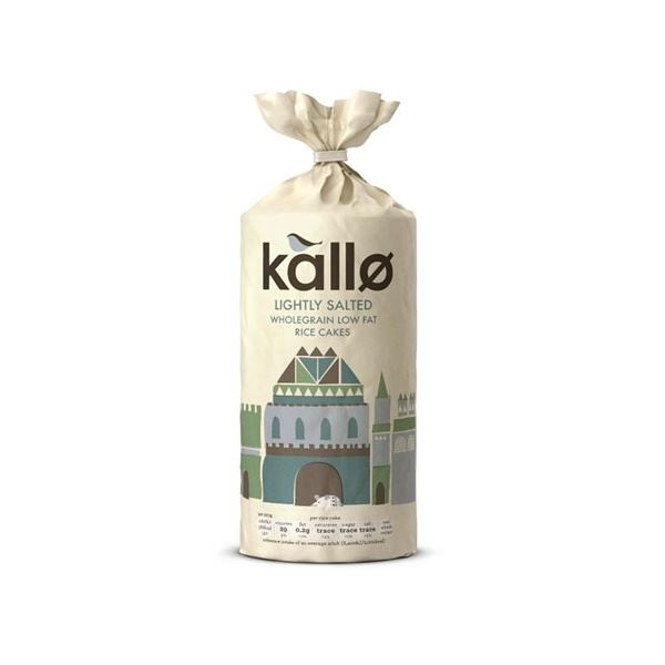 Kallo Foods Organic Thick Rice Cakes Lightly Salted 130g x 12