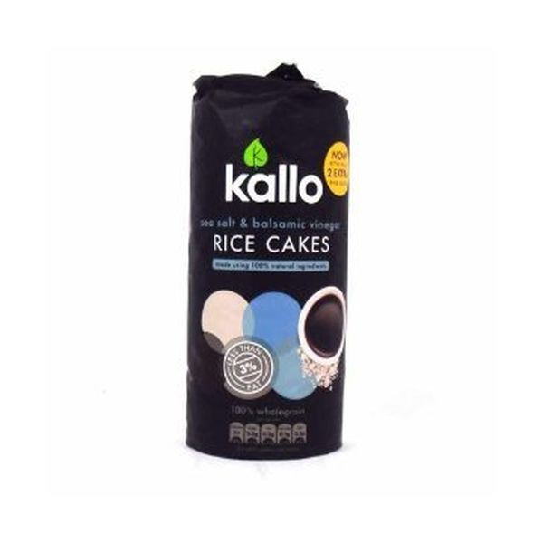 Kallo Foods Sea Salt And Balsamic Vinegar Rice Cake 122g x 6