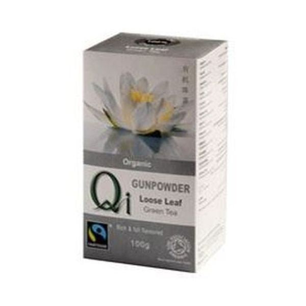 Qi Organic Fairtrade Loose Leaf Gunpowder Tea 100g