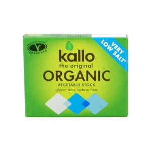 Kallo Foods Organic Low Salt Vegetable Stock Cube 6 x 11g x 15