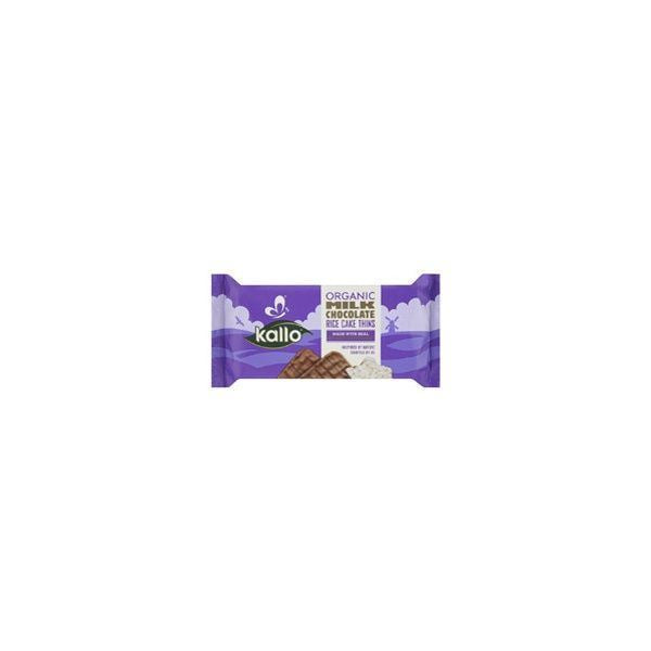 Kallo Foods Organic Milk Chocolate Rice Cakes 90g x 16