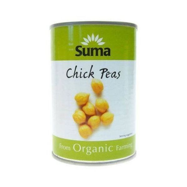 Suma Wholefoods Chick Peas In Filtered Water 400g