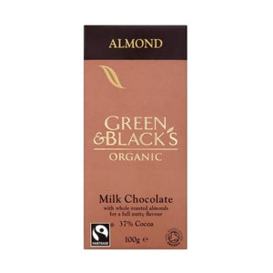 Green & Black'S Organic Milk Chocolate With Whole Almonds 100g x 15