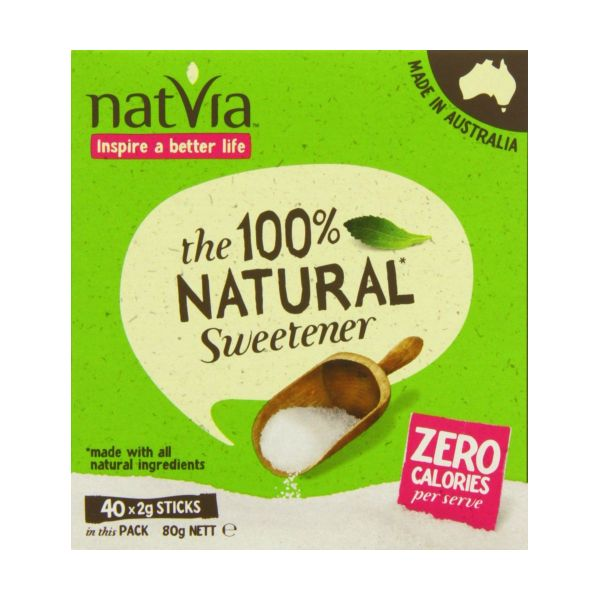 Natvia 40 Sticks - Contains Stevia 40 Sticks x 4
