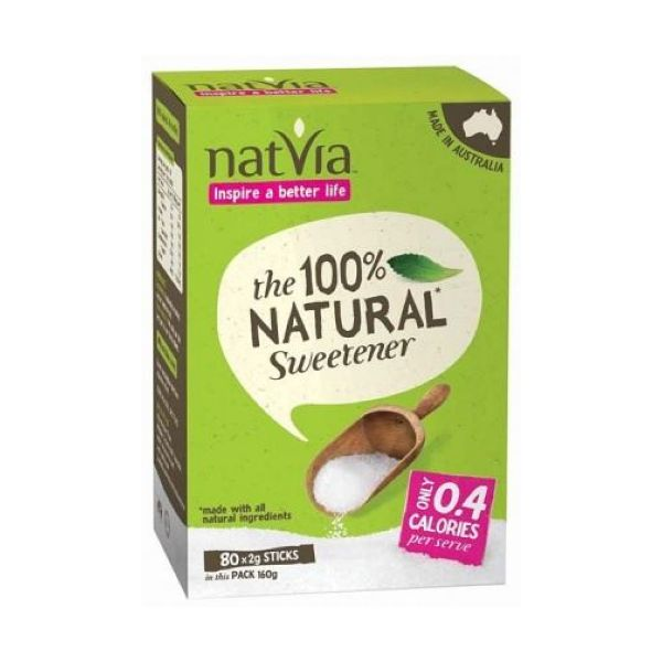 Natvia 80 Sticks - Contains Stevia 80 Sticks x 4
