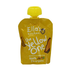 Ella's Kitchen (Vegetarian) The Yellow One - Organic Smoothie Fruit. 90g x 12