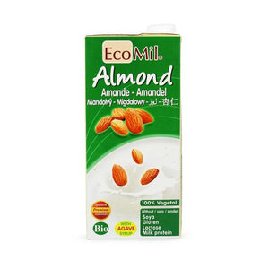 Ecomil Organic Almond Drink + Agave 1ltr x 6