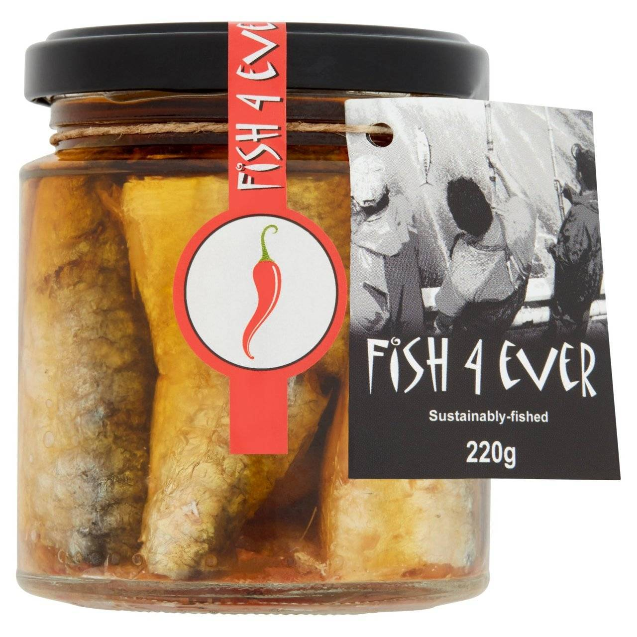 Fish 4 Ever - Organic Chilli Sardines With Org Sundried Tomatoes & Olives 220g (x 6pack)