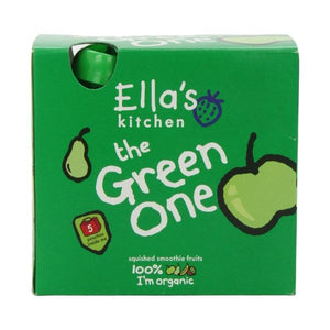 Ella's Kitchen (Vegetarian) The Green One - Organic Smoothie Fruit Multipack 5 x 90g x 6