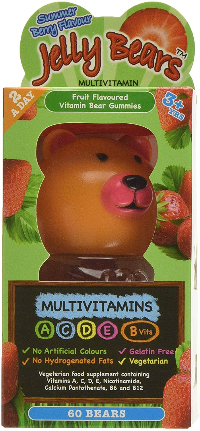 Jelly Bears Strawberry Multivitamins 60 x2g