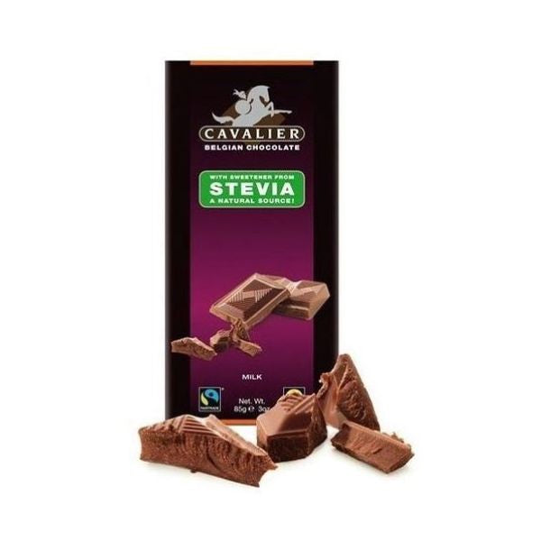 Cavalier Delicious Beligian Stevia Milk Chocolate Tablet 85g x 14