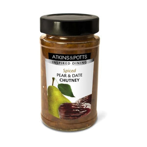Atkins & Potts Spiced Pear & Date Chutney 235g