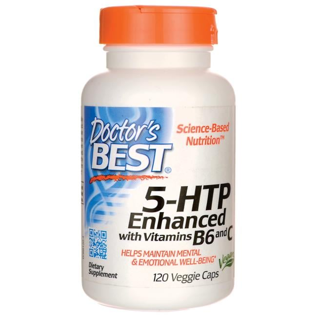 Doctors Best 5-HTP Enhanced with Vitamin B6 and C - 120 Vegicaps