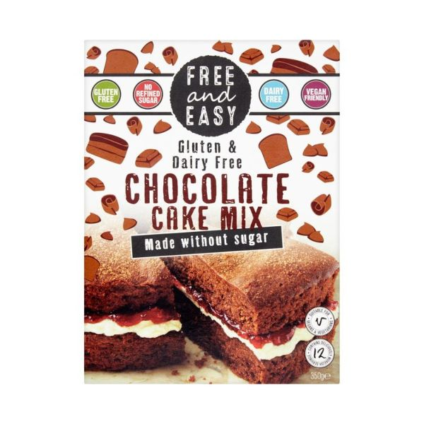 Free & Easy Gluten & Dairy Free Chocolate Cake Mix - Sugar Free 350g