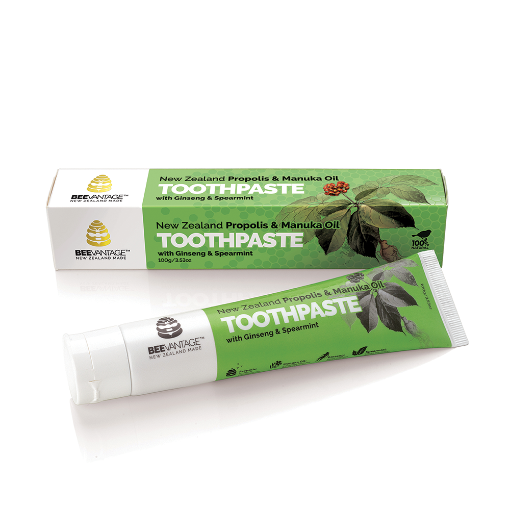 Beevantage - Beevantage NZ Propolis & Manuka Oil Toothpaste With Ginseng & Spearmint (100g)