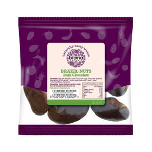 Biona Organic Dark Chocolate Covered Brazil Nuts 80g x 12