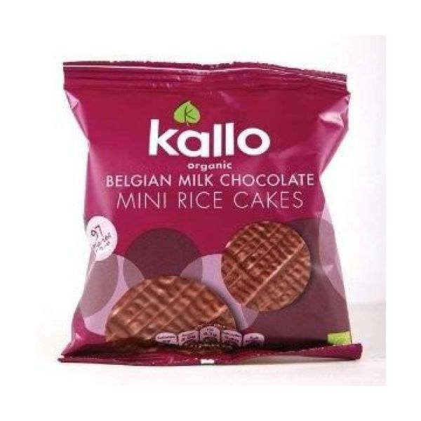 Kallo Foods Belgian Milk Chocolate Mini Rice Cake 40g x 12