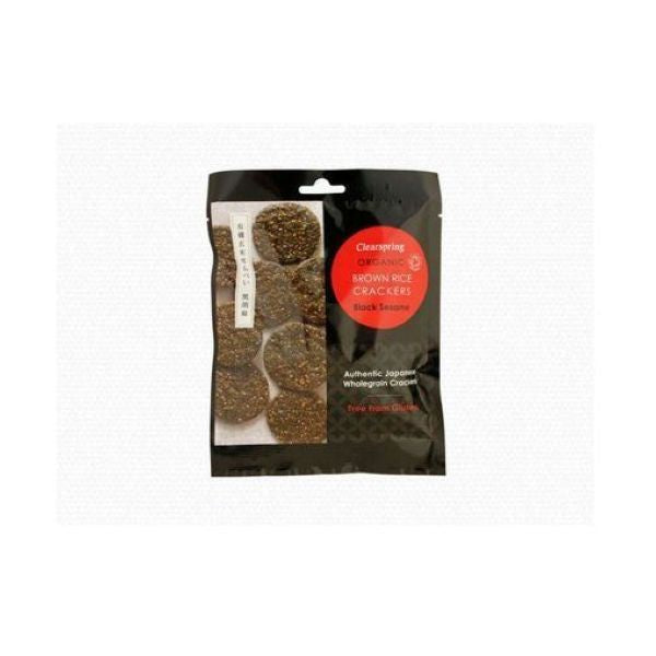 Clearspring Wholefoods Organic Brown Rice Crackers - Black Sesame 40g x 12