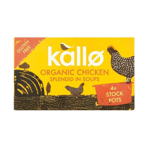 Kallo Foods Organic Stock Pots - Chicken 96g x 8