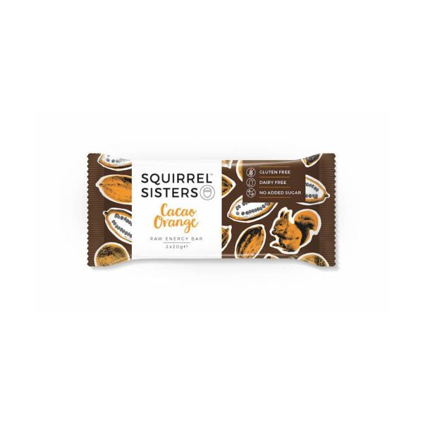 Squirrel Sisters Cacao Orange 2x20g x 16