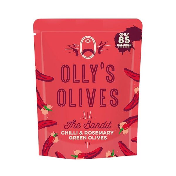 Olly'S Olives The Bandit - Chilli & Rosemary Green Olives 50g x 12