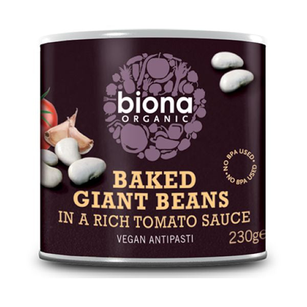 Biona Organic Baked Giant Beans In Tomato Sauce 230g