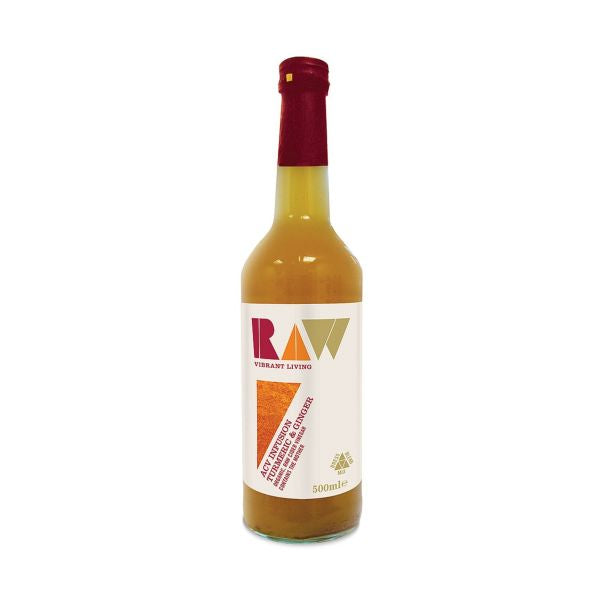Raw Health Org Raw Apple Cider Vinegar Blend With Turmeric & Ginger 500ml