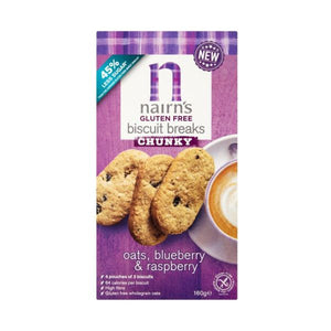 Nairn S Oatcakes Nairn'S Oatcakes Gf Oats Blueberry & Raspberry Biscuit Breaks Chunky 160g