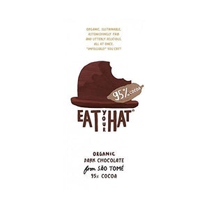 Eat Your Hat Organic Dark Chocolate With 95% Cocoa 81g x 10