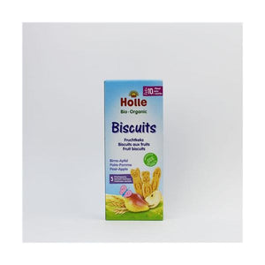 Holle Organic Fruit Biscuits Pear-Apple 125g x 12